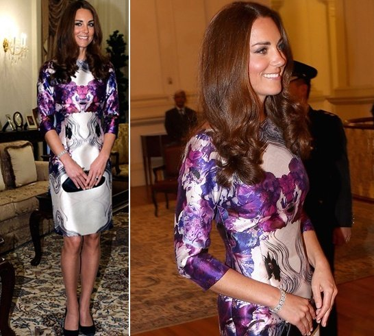 Kate Middleton in Prabal Gurung
