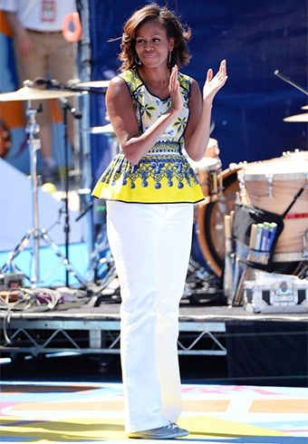 Michelle Obama in Prabal Gurung