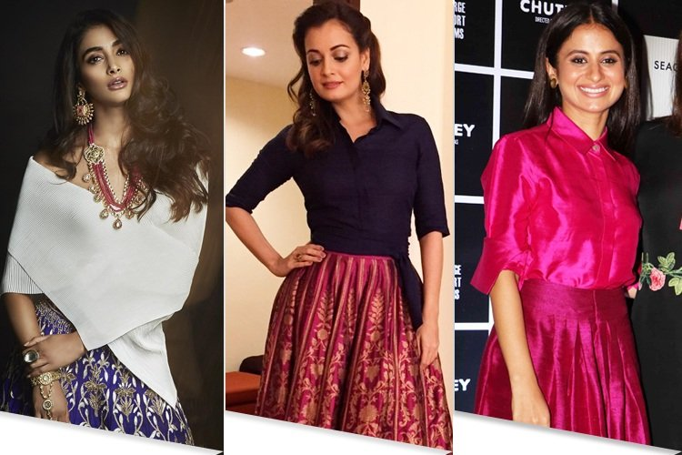 74d842335de48 20 Outfit Ideas To Wear An Ethnic Skirt The Celebrity Way .