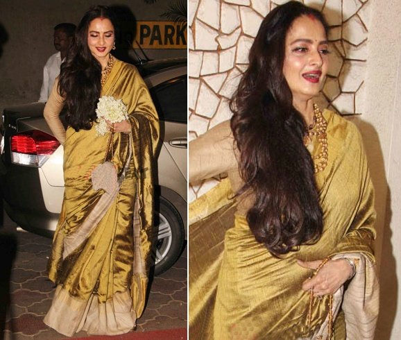 Rekha at Javed Akhtar Birthday