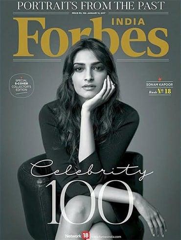 Sonam Kapoor On Forbes