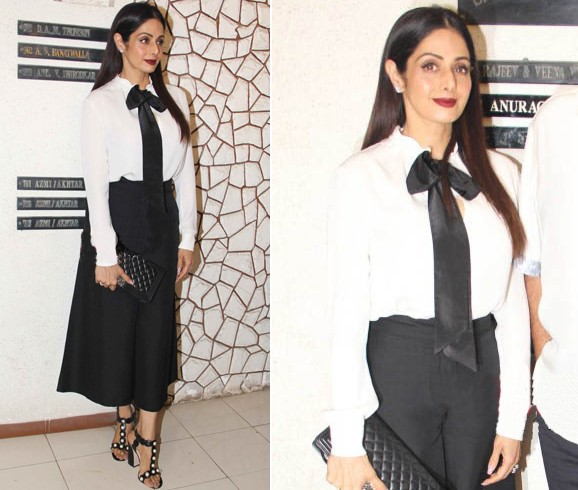 Sridevi at Javed Akhtar Birthday
