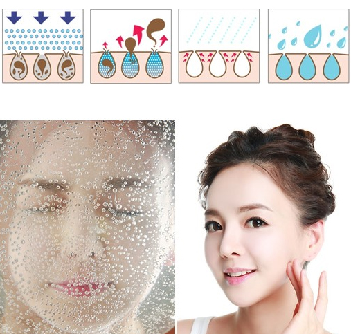 Carbonated water skin care