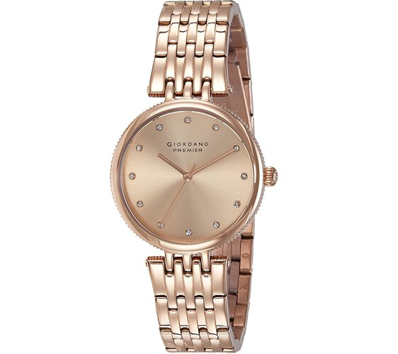 Giordano Analog Rose Gold Dial Womens Watch