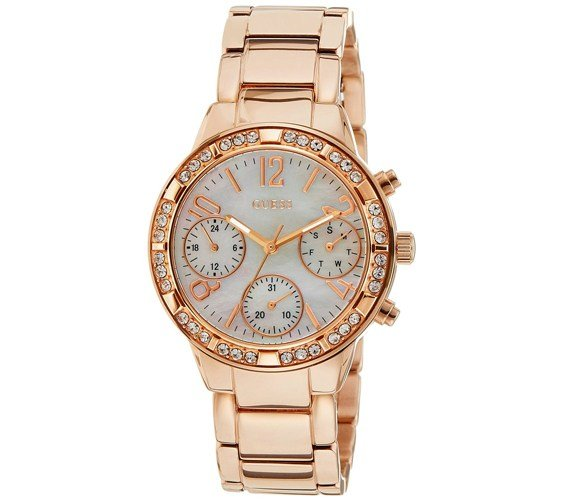 Guess Analog White Dial Womens Watch