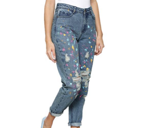 Heidi Paint Splatter Jeans