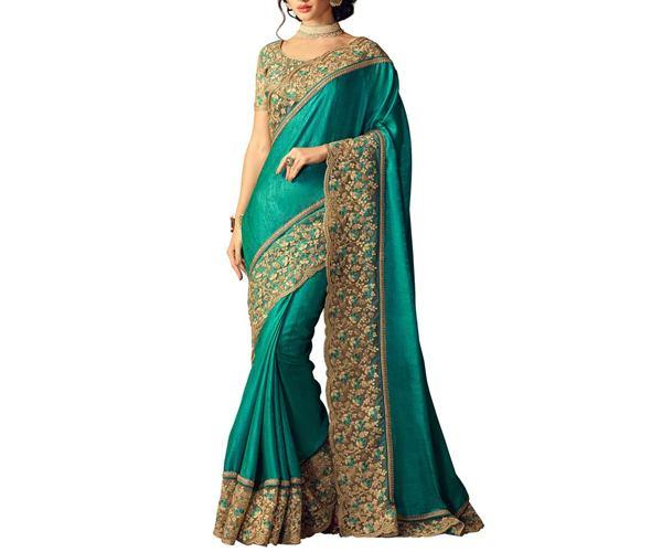 Ishin Green Silk Saree
