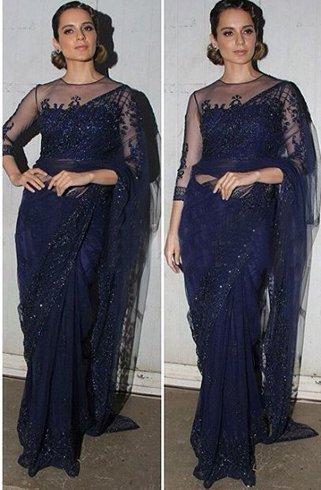 Kangana in saree fashion