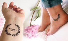 Laurel wreath tattoo for women