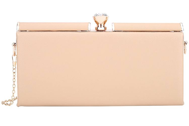 Lino Perros Beige Faux Leather Clutch