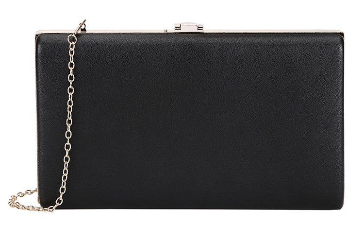 Lino Perros Black Faux Leather Clutch