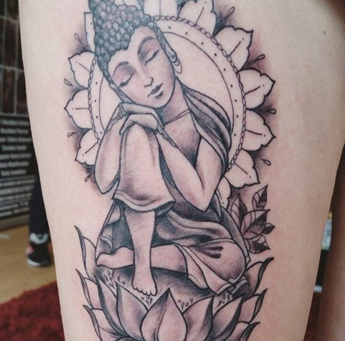 Meditating Buddha Tattoos