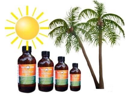 Moringa oil for Combat sunburns