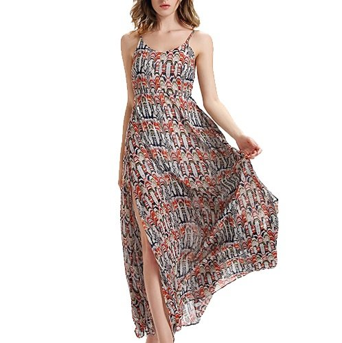 Multicoloured Printed Maxi Dress