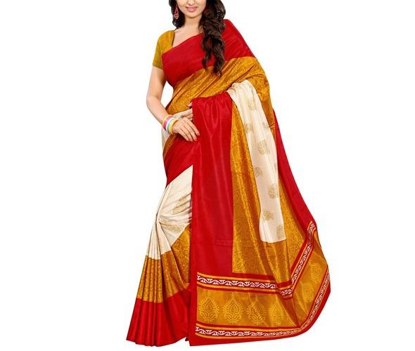 Multicoloured Silk Saree