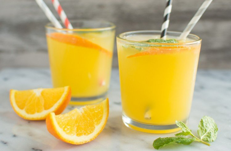 Orange-mint Coconut Water