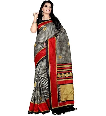 Peecaso Multicolored Silk Saree