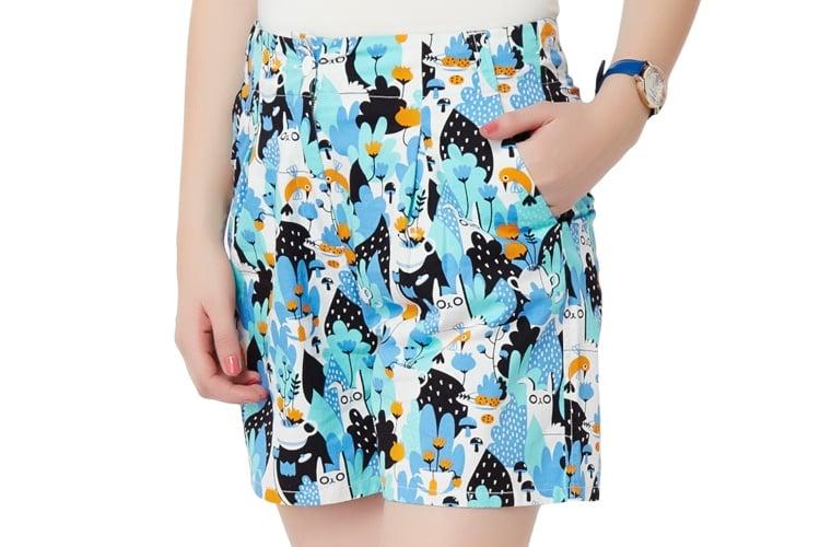 Tea Garden Pleated Shorts