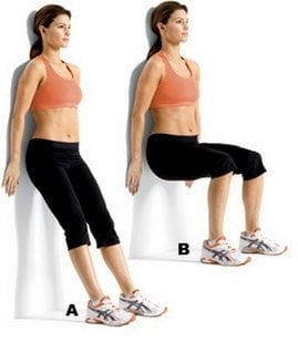 Wall Squats for back pain