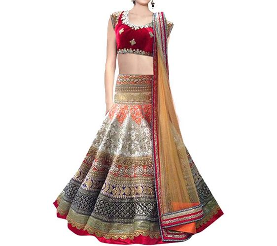 Wing Deals Embroidered Womens Lehenga