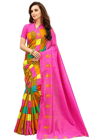 Womens Silk Cotton Saree