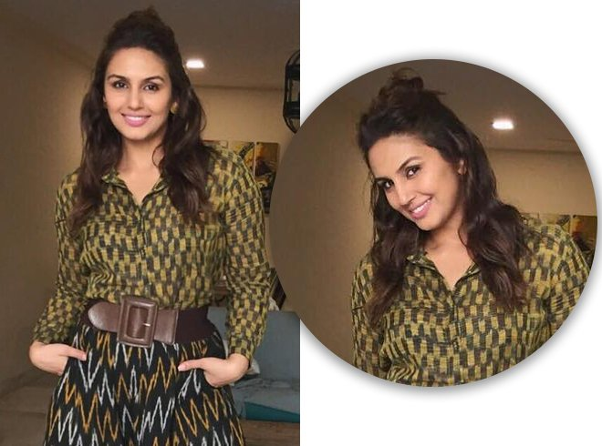 Huma Qureshi Bun Hairstyle