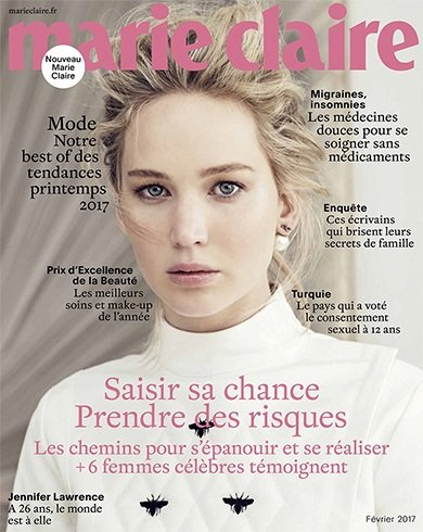 Jennifer Lawrence for Marie Claire