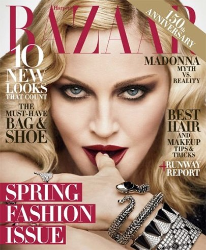 Madonna for Harpers Bazaar