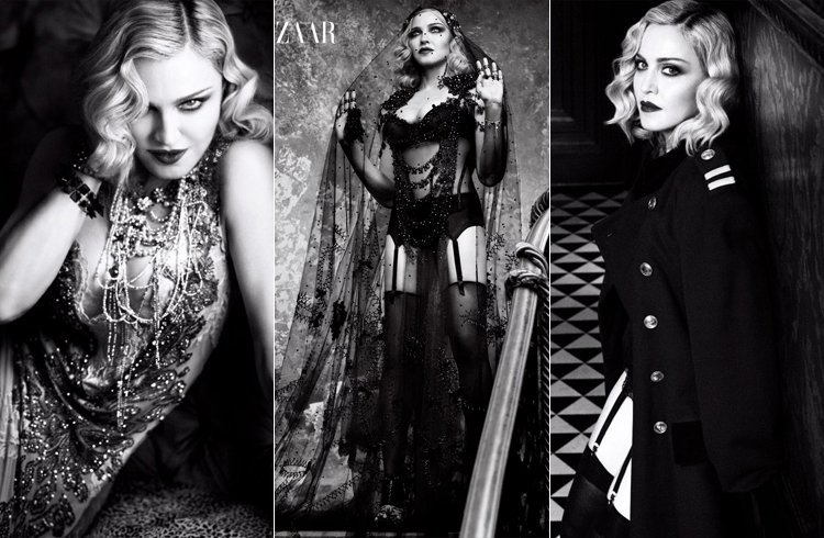 Madonna for Harper Bazaar