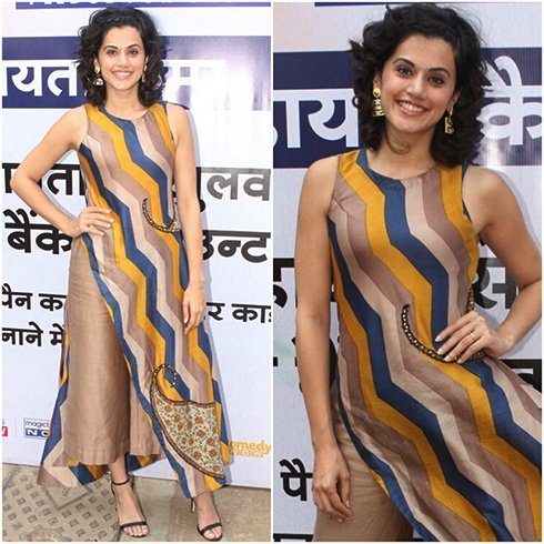 Taapsee Pannu Stripe Style