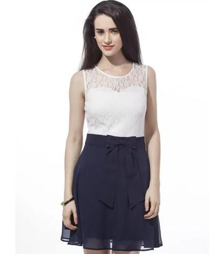 Besiva Womens A-line Blue Dress