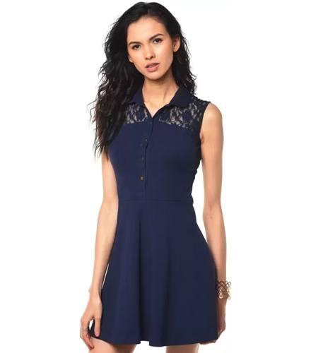 Besiva Womens A-line Blue Dresses