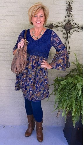 Blue dress fashion For Women Over 50