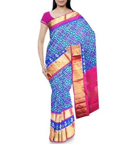 CHENNAKESHAVULU IKKAT POCHAMPALLY Women's Silk Saree