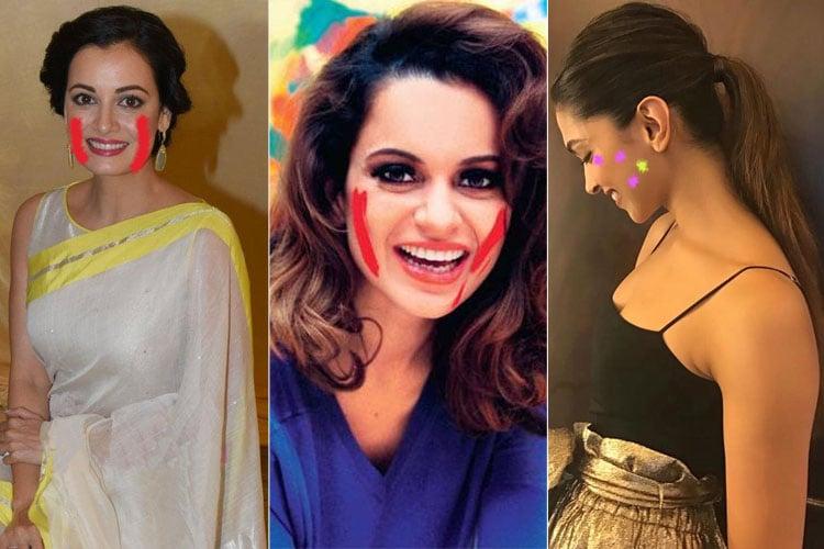 Celebrity Holi Hairstyles