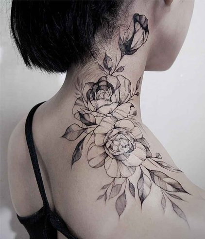 Cute shoulder tattoos