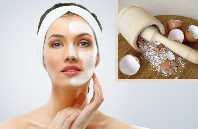 Facial With Egg Shells