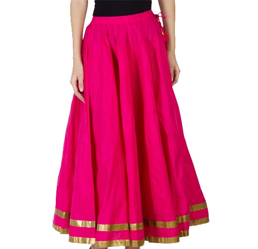 Fuchsia Flared Skirt
