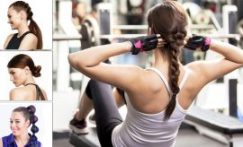 Gym hairstyles for women