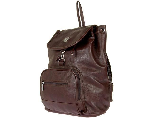 JG Shoppe Men & Women Brown PU Backpack