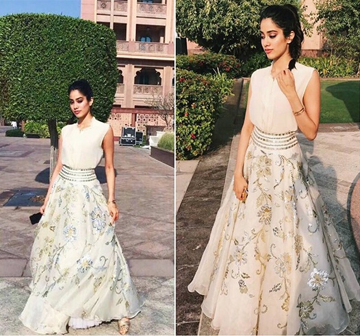 Jhanvi Kapoor in Abu Jani Sandeep Khosla Label