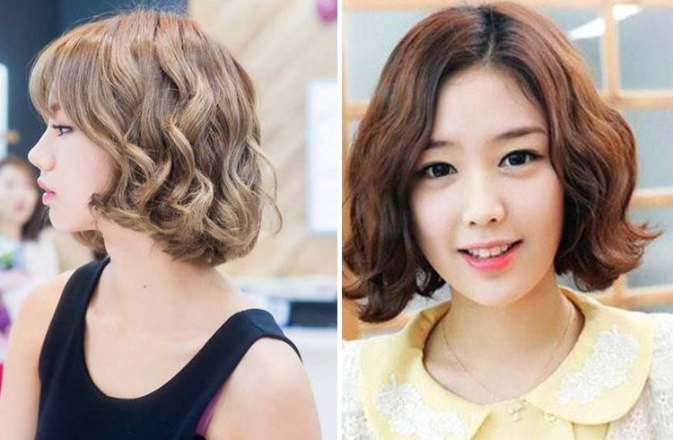 Korean Short Curly Hairstyles