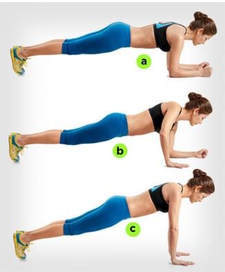 Planks for waist