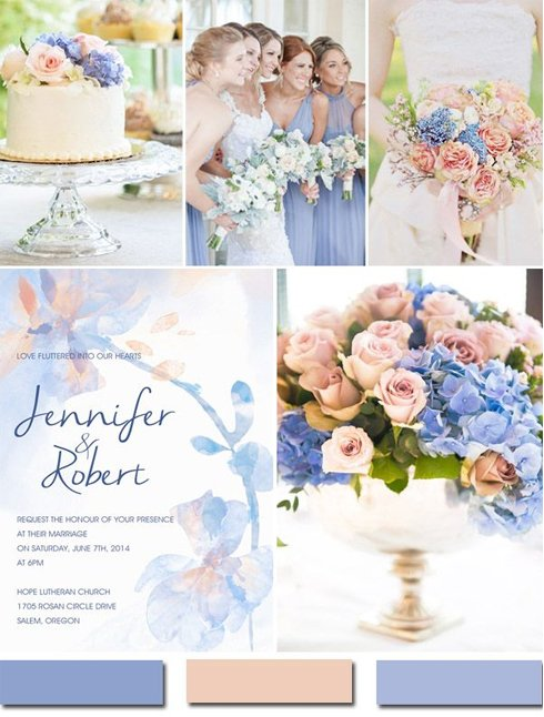 Shades of Blue, Latte, Soft Pink and Lavender