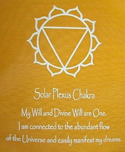 Solar plexus chakra tattoo for women