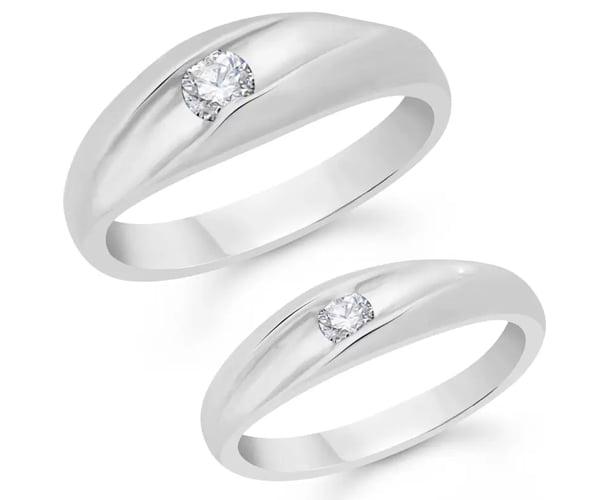VShine Alloy Swarovski Zirconia Rhodium Ring Set