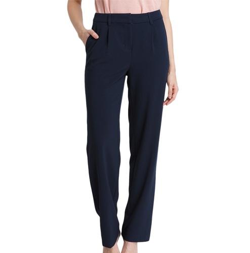 Vero Moda Navy Blue Straight Fit Trousers