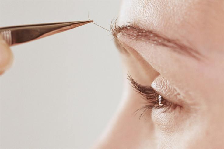 pluck your eyebrow to sneeze