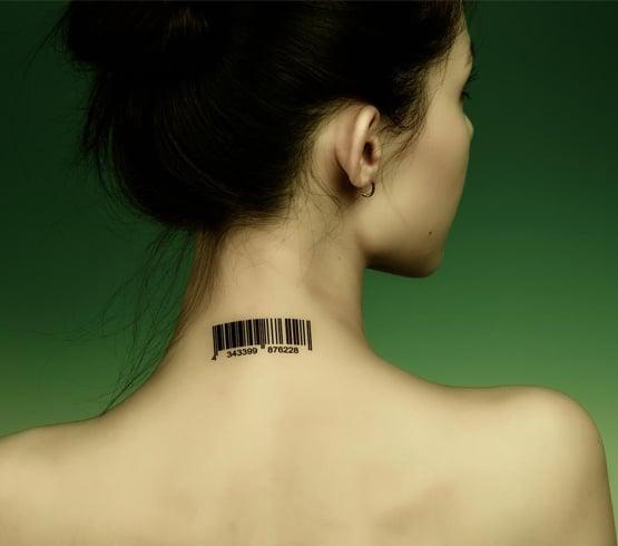 Womens neck tattoos