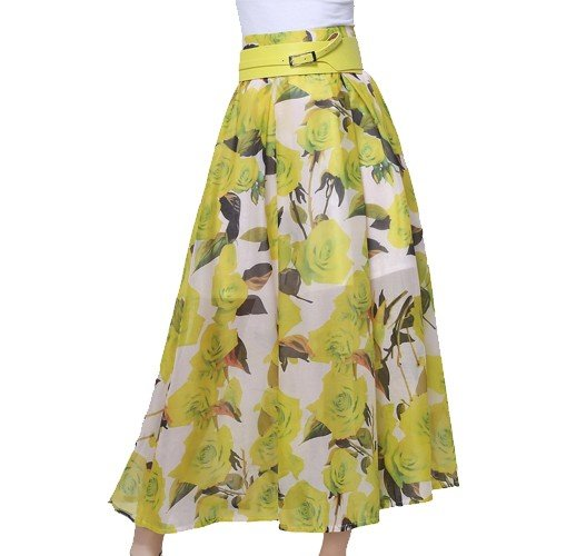 Yellow Flared Skirt